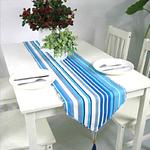 chemin-de-table-rayures-bleu-blanc