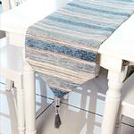 chemin-de-table-a-rayures-bleues