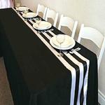chemin-de-table-raye-noir-et-blanc-mariage