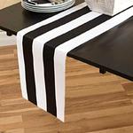 chemin-de-table-raye-noir-et-blanc-motifs