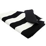 chemin-de-table-rayure-noir-et-blanc-goemetrique