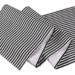 chemin-de-table-rayure-noir-et-blanc-tissu