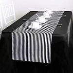 chemin-de-table-rayure-noir-et-blanc-style-moderne