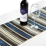 chemin-de-table-raye-gris-bleu-moderne