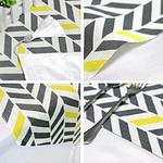 chemin-de-table-chevron-jaune-et-gris-pas-cher