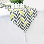 chemin-de-table-chevron-jaune-et-gris-motifs