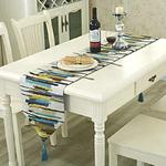 chemin-de-table-multicolore-motif
