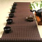 chemin-de-table-bambou-marron-naturel
