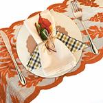 chemin-de-table-dentelle-marron-automne