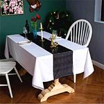chemin-de-table-sequin-noir-paillettes-brillant