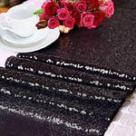 chemin-de-table-sequin-noir-paillette