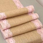 chemin-de-table-rustique-dentelle-rose