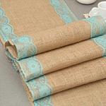 chemin-de-table-rustique-dentelle-turquoise