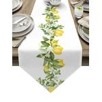 chemin-de-table-citron-feuillage