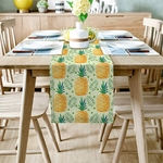 chemin-de-table-tropical-ananas-feuillage