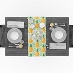 chemin-de-table-tropical-ananas-exotique