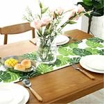 chemin-de-table-feuille-tropicale-hawai