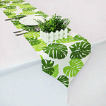 chemin-de-table-feuille-tropicale-anniversaire