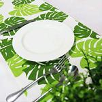 chemin-de-table-feuille-tropicale-exotique