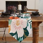 chemin-de-table-art-floral-moderne