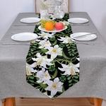 chemin-de-table-fleur-de-lys-blanche