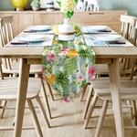 chemin-de-table-tahitien-ananas-fleurs