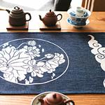 chemin-de-table-japonais-fleurs-lotus