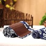 chemin-de-table-motif-japonais-bambou-brun