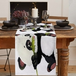 chemin-de-table-panda-noir-et-blanc