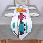 chemin-de-table-hiboux-oiseau