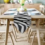 chemin-de-table-zebre-animal