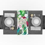 chemin-de-table-perroquet-tropical