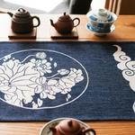 chemin-de-table-japonais-lotus-bleu-voyage-anniversaire