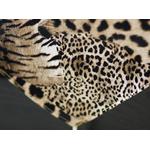 chemin-de-table-leopard-fourrure-animal-afrique