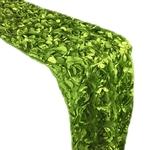 chemin-de-table-en-fleurs-artificielles-vertes