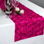 chemin-de-table-en-fleurs-artificielles-fuchsia