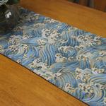 chemin-de-table-mer-anniversaire-vagues-bleues