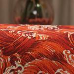 chemin-de-table-mer-anniversaire-vagues-rouges
