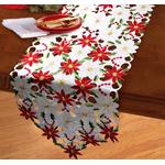 chemin-de-table-noel-fleur-blanc-et-rouge