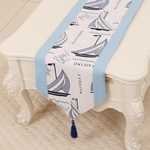chemin-de-table-bapteme-garcon-bleu-mer