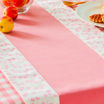 chemin-de-table-rose-bapteme-fleur