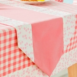 chemin-de-table-rose-bapteme-fille