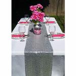 chemin-de-table-sequin-argent-mariage-moderne