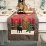 chemin-de-table-noel-ecossais-rouge