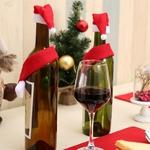 decoration-noel-bouteille-de-vin-verre