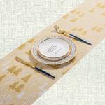 chemin-de-table-nouvel-an-dore-beige-sapins