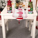 chemin-de-table-noel-blanc-et-rouge-sapins-rennes