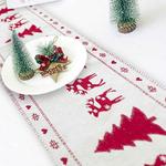 chemin-de-table-noel-blanc-et-rouge-sapin-renne