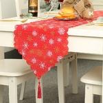 chemin-de-table-noel-toile-de-jute-rouge-flocon-dorés