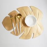 feuille-exotique-artificielle-set-de-table-or